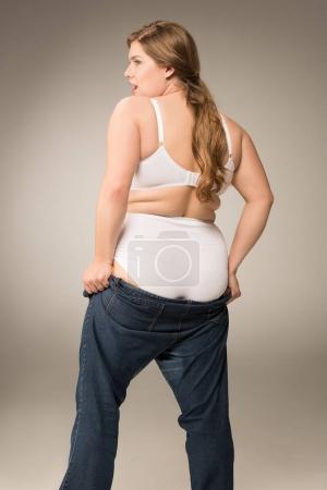 overweight girl waering jeans
