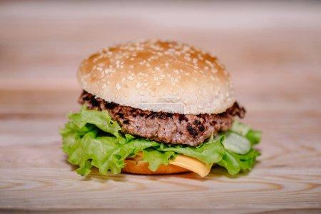 frisch gekochter Fleischburger