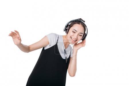 Asian girl listening music