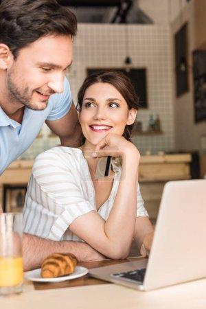 Couple doing online shopping