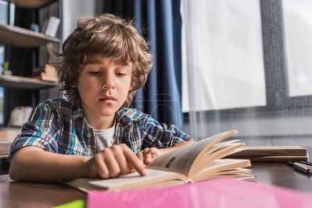 kid reading book