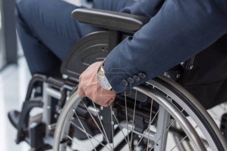 Photo for Cropped shot of disabled businessman in wheelchair - Royalty Free Image