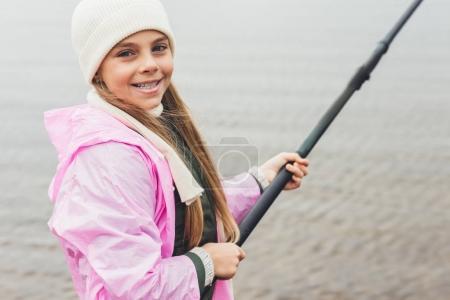 Fishing little girl