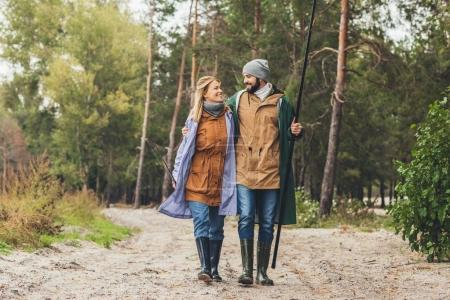 couple going from fishing