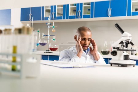 Technician working in laboratory