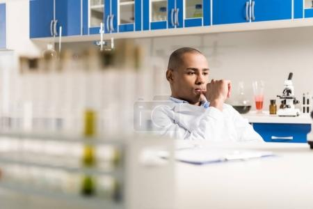 Male scientist at laboratory
