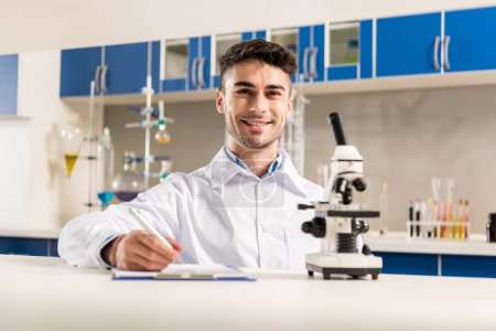 technician working in laboratory