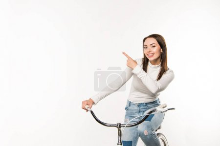 Woman pointing on something