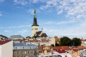 24-27.08.2016 Scenic summer beautiful aerial skyline panorama of the Old Town in Tallinn, Estonia