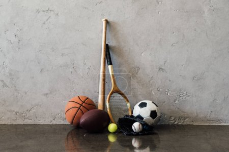 Various sports equipment