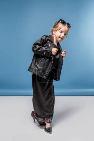 girl wearing black dress