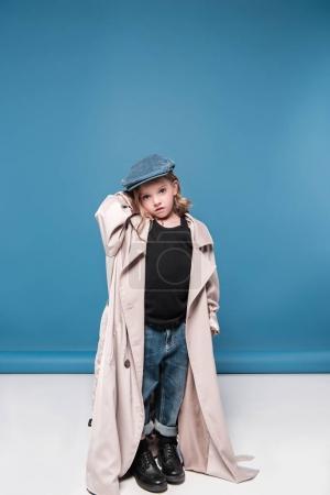 Adorable little girl in cap