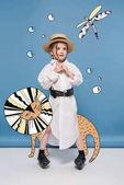 """Постер, картина, фотообои """"Маленькая девочка с магические животные"""""""