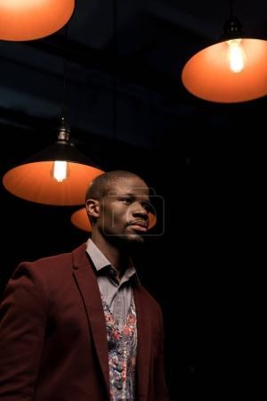 stylish elegant african american man