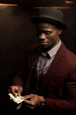 african american man with banknotes