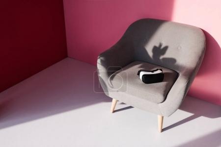 vr headset on armchair