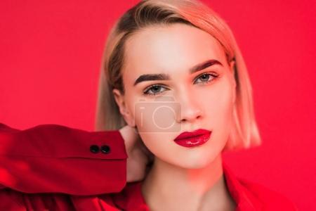blonde stylish girl