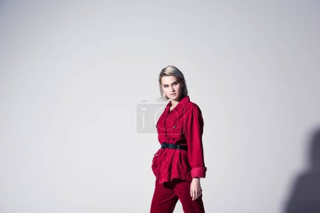 elegant girl posing for fashion shoot