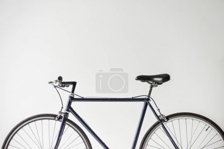 Photo for One bicycle with saddle isolated on white - Royalty Free Image
