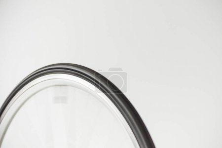 bicycle wheel in motion isolated on white