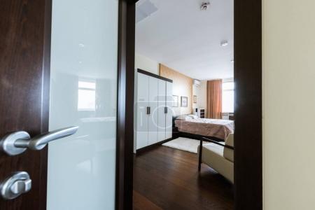 view of empty modern arranged bedroom