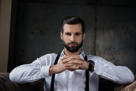 Photo for Portrait of handsome confident man looking at camera - Royalty Free Image