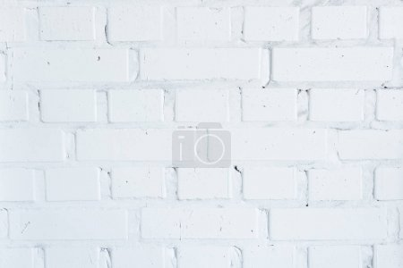 Building wall with white bricks background
