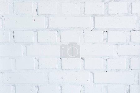 Photo pour Mur de construction avec fond en briques blanches - image libre de droit