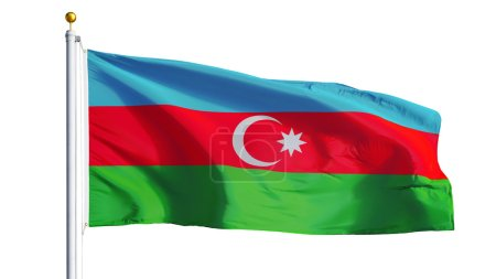 Azerbaijan flag, isolated with clipping path alpha channel transparency