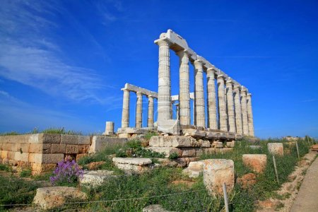 The ruins of the Temple of Poseidon at the legenda...