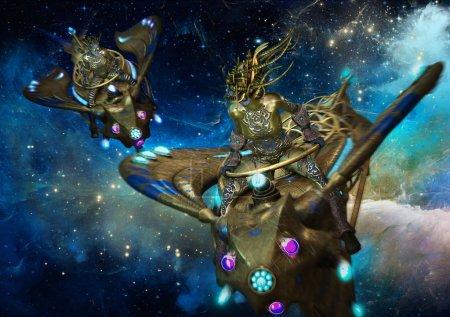 Galactic Rdie, 3d CG