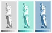 Venus de Milo statue Aphrodite  - goddess of love Vector drawing