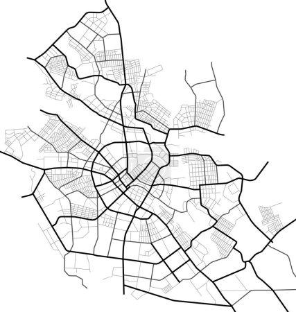 Ivanovo mapa de la ciudad - calles de la ciudad en el plan. Mapa del esquema de la carretera. Entorno urbano, contexto arquitectónico. Vector