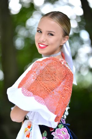 Slovakian folklore girl.