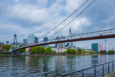 bridge to the skyline  of Frankfurt