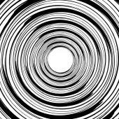 Geometric spiral pattern with concentric circles rings Abstract monochrome illustration