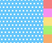 Basic repeatable white plus one color patterns abstract squares backgrounds