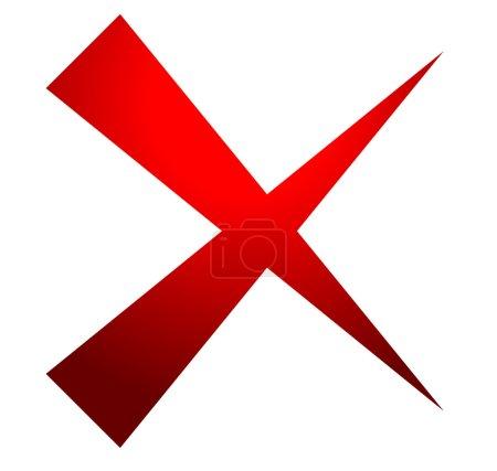 X letter, x shape. delete, remove, failure icon...