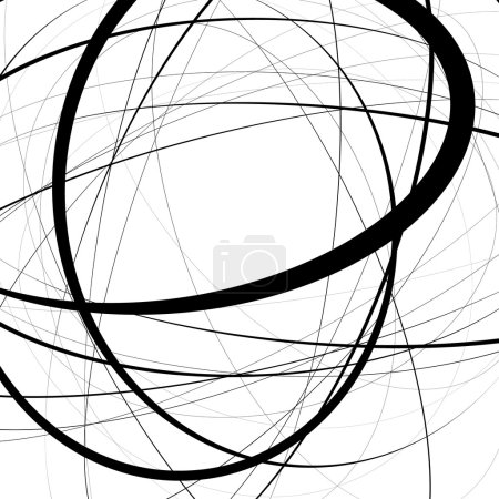 Illustration for Artistic illustration with stressful random, irregular lines. Geometric background. - Royalty Free Image
