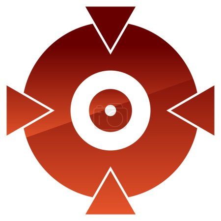 Crosshair, target mark shape