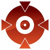 Crosshair target mark shape for pinpoint bullseye and alignment concepts