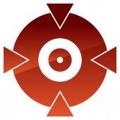 Crosshair target mark shape