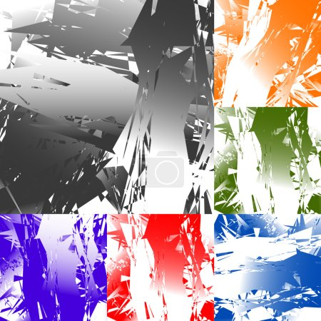 Grungy abstract elements backgrounds