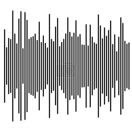 Illustration pour Eq, élément égalisateur. graphique à barres, graphique à barres - image libre de droit
