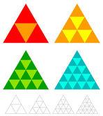 mosaic triangle elements set