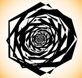 Geometric spiral shape abstract edgy element