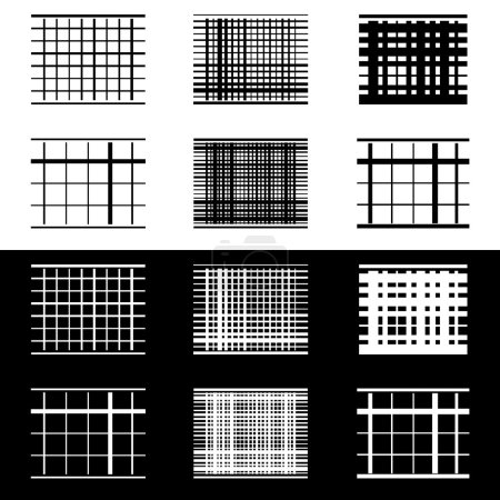 Set of abstract geometric elements with lines