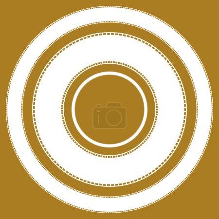 Illustration pour Filmstrips pour la photographie, multimédia - image libre de droit