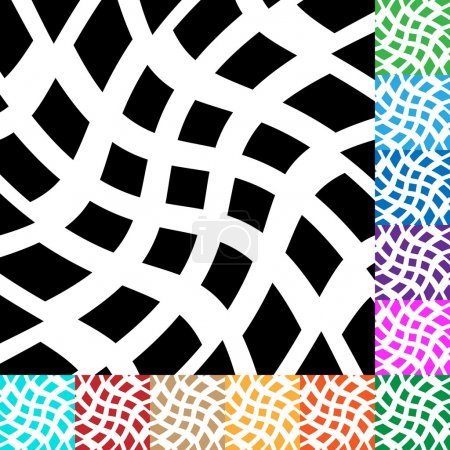 Grid, mesh with distortion patterns