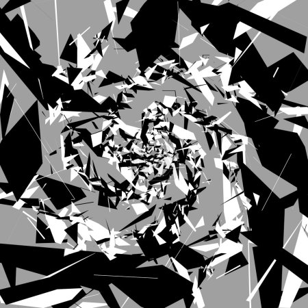 random, chaotic shapes background